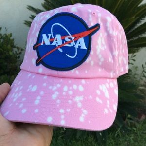 bde31350f5d13 Accessories - Pink bleached NASA Dad Hat NWT